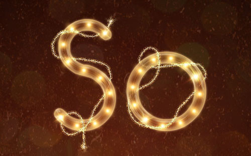 Bright Rope Light Text Effect