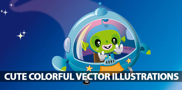 50 Cute Colorful Vector Illustrations