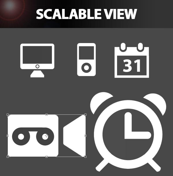 Free Vector Icons Scaleble View