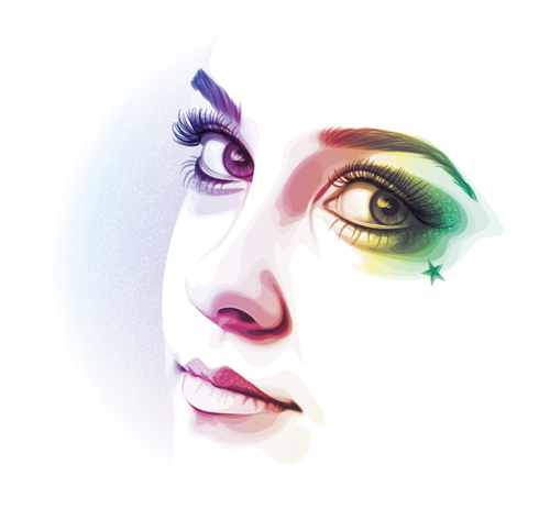 How to Create a Rainbow Colored Portrait From a Stock Image in Illustrator