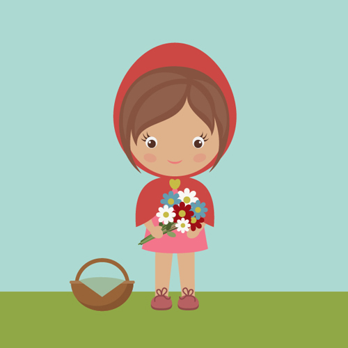 How to Draw Little Red Riding Hood with Basic Shapes in Adobe Illustrator