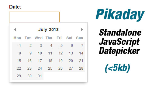 Pikaday: JavaScript Datepicker