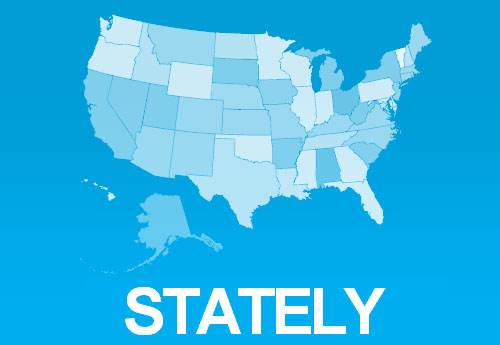 Stately: A Font For Creating US Maps