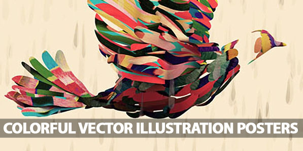 25 Colorful Vector Illustration Posters