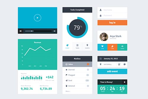 Free Psd UI Kits For Web and Mobile-16