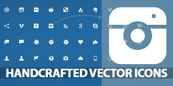 200 Beautiful Handcrafted Vector Icons For Web UI Design