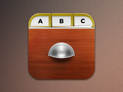Wooden Cabinet mobile app icons