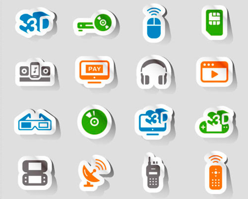 3D Icons Stickers Vector Pack Graphics
