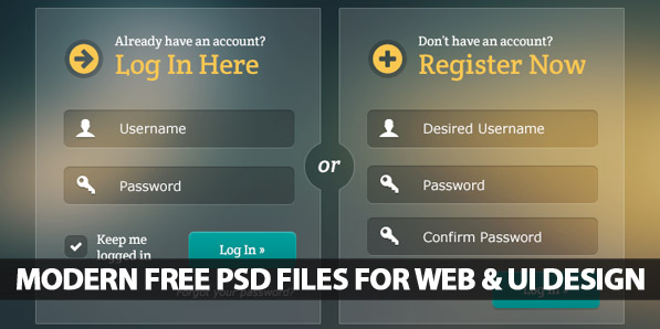 Modern Free PSD Files For Web and UI Design