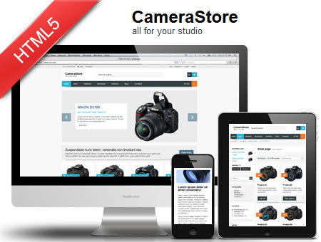 Camera Store – Responsive eCommerce HTML5 Template