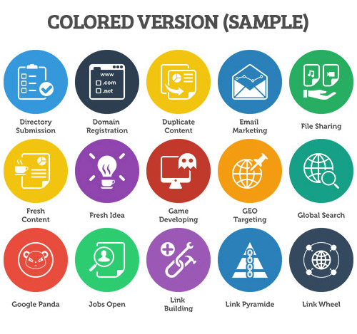 seo icons color version