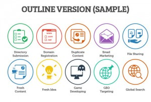 seo outline icons