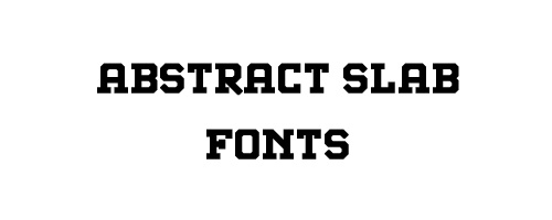 Abstract Slab Free Font