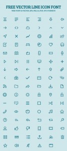 Free Vector Line Icon Font Preview
