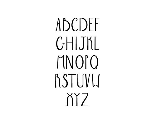 Sabrina Free Font Typography / Lettering