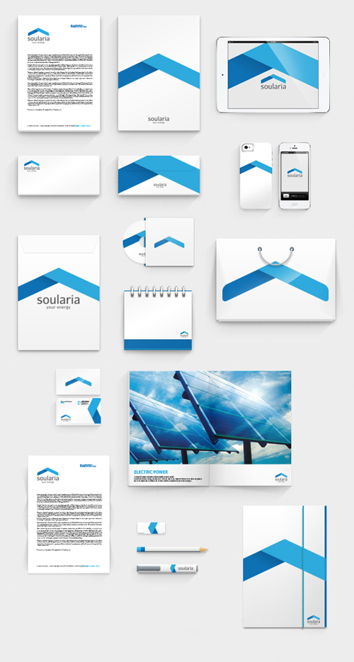 SOULARIA | YOUR ENERGY Branding letterhead