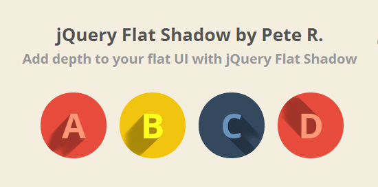 jQuery Flat Shadow - Create Long Shadows Flat UI