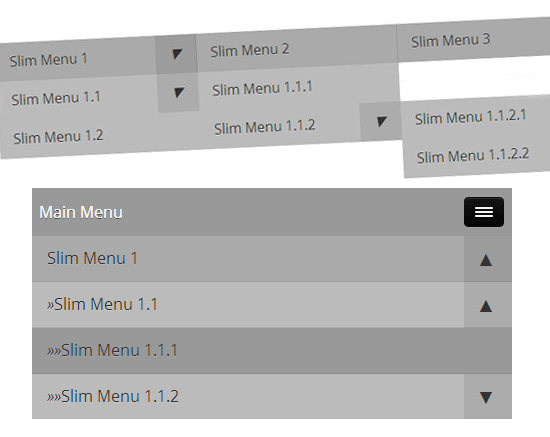 slimMenu: Multi-Level Responsive Menu