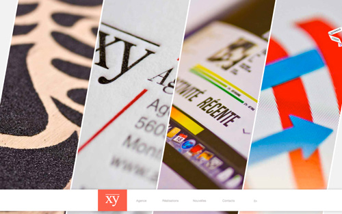 Agence XY2 One Page Website Design