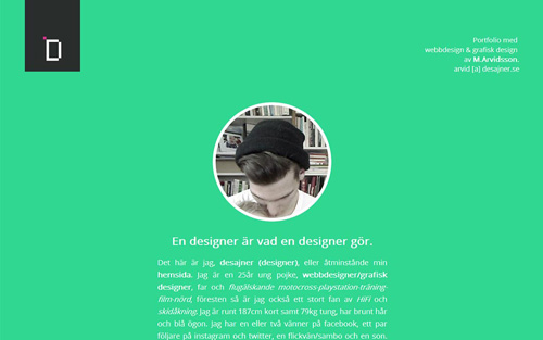 Mikael Arvidsson One Page Website Design