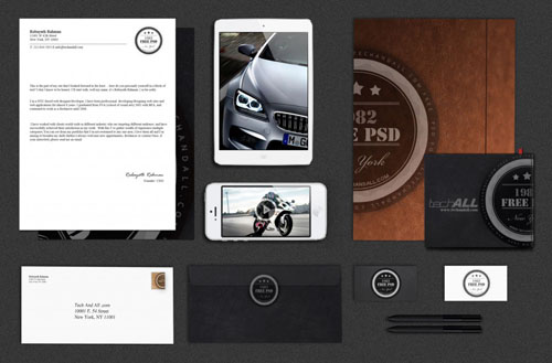 Branding Identity Mock up Free PSD File