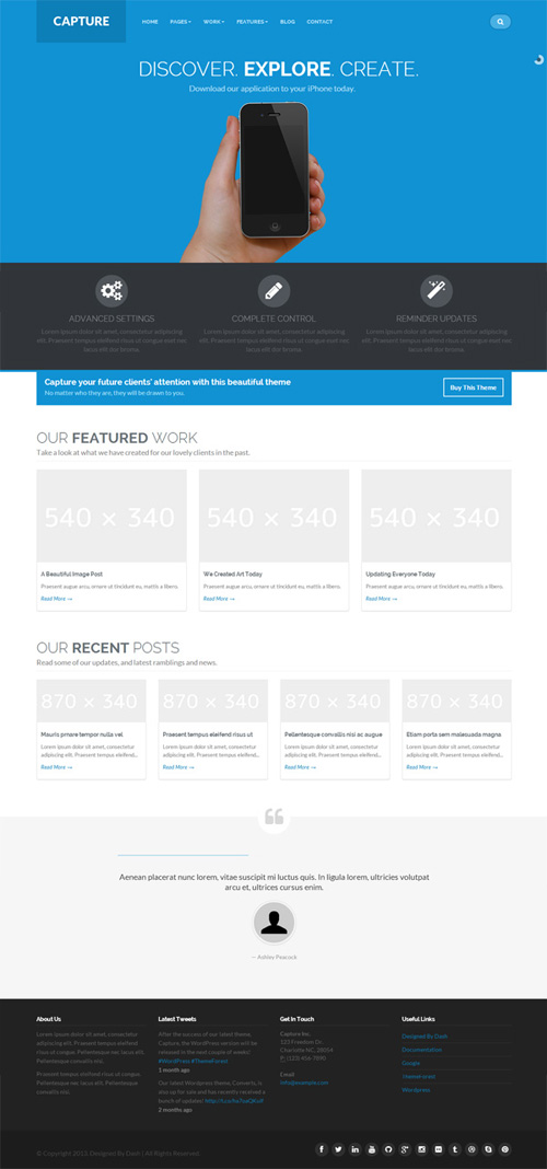 Capture – Responsive Bootstrap WordPress Theme