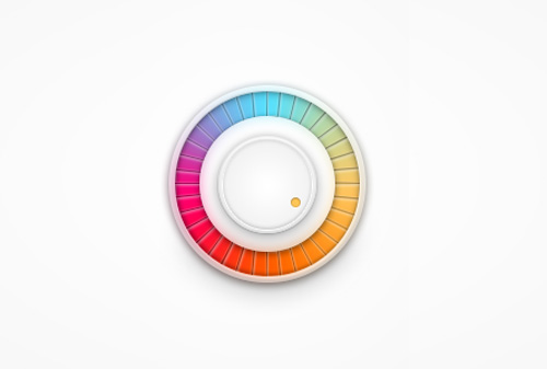 Colourful volume knob Free PSD File