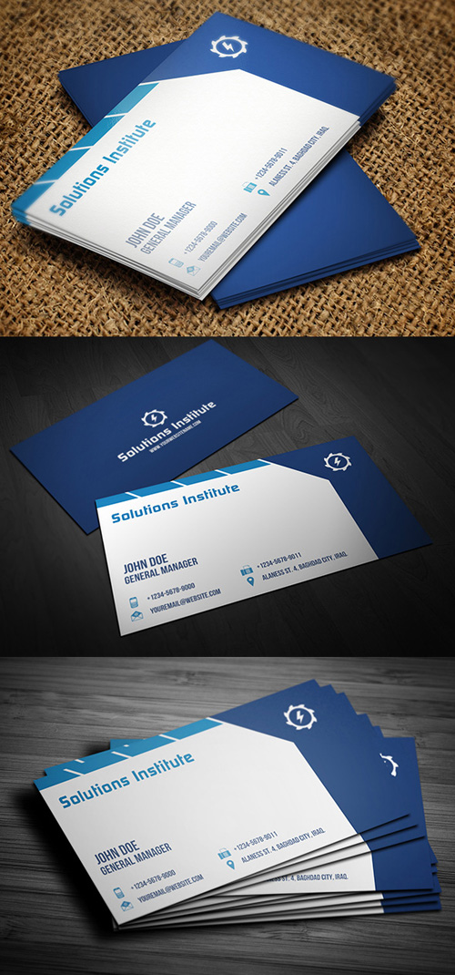 Corporate Blue Business Card
