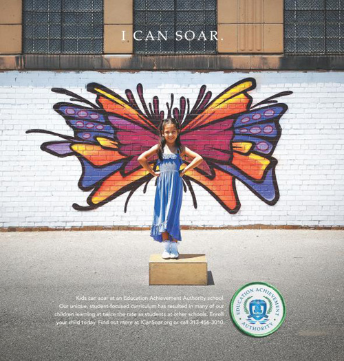 Education Achievement Authority: Wing Print Advertising