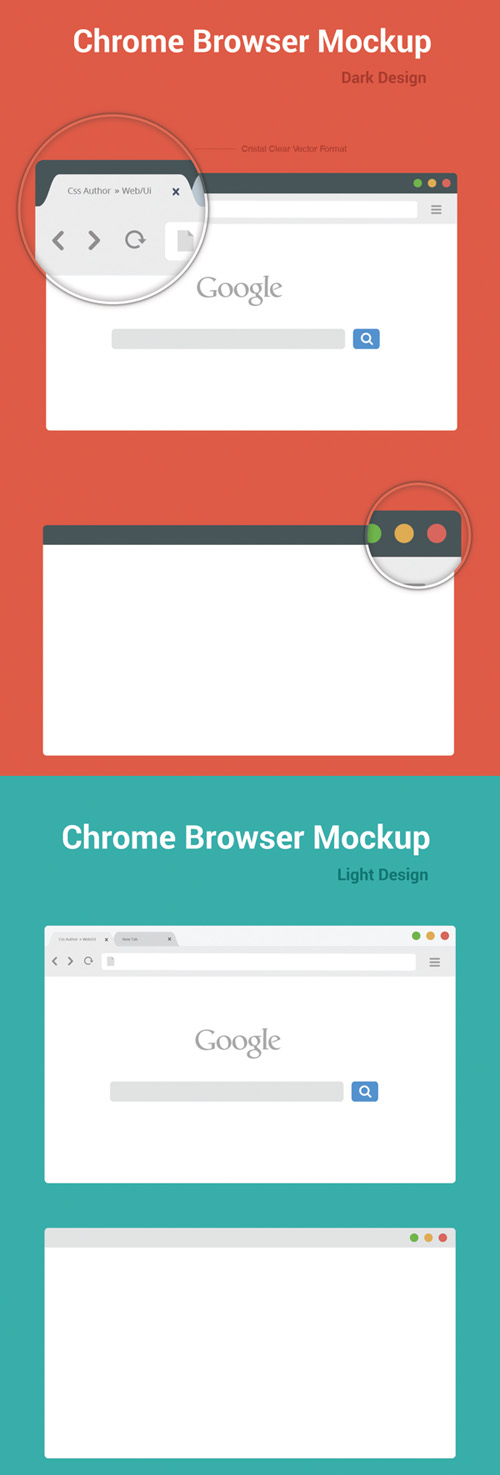 Free Chrome Browser Mockup Design Template – Vector Free PSD File