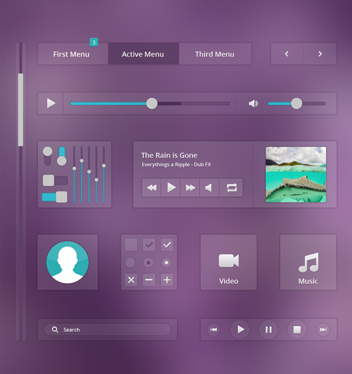 Free Music Ui PSD File