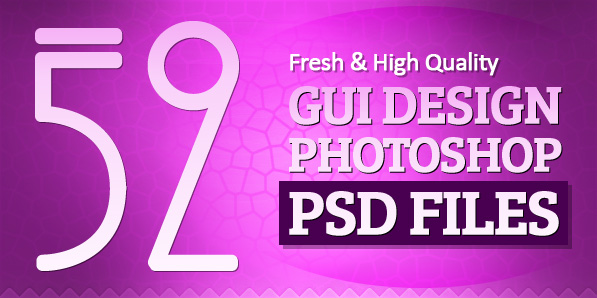 52 Fresh GUI Design Photoshop PSD Files