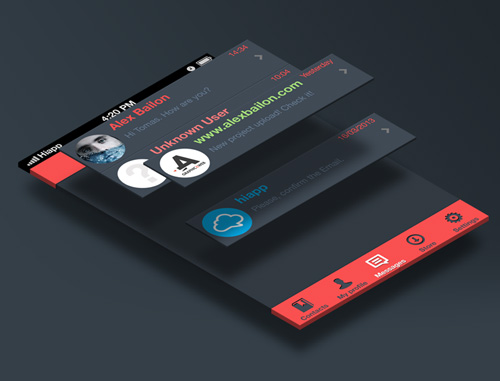 Isometric Mock-up | Free psd action Free PSD File
