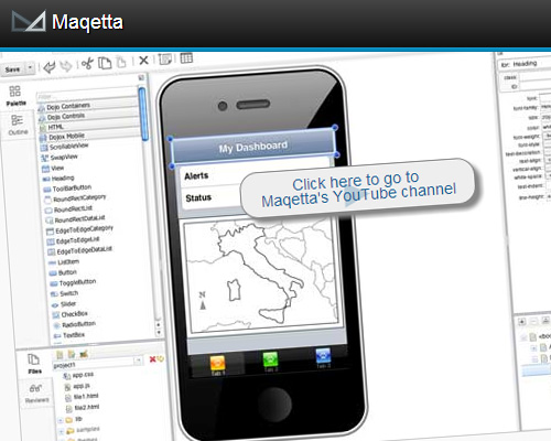 Maqetta - An Open Source WYSIWYG Visual Authoring of HTML5 User Interfaces