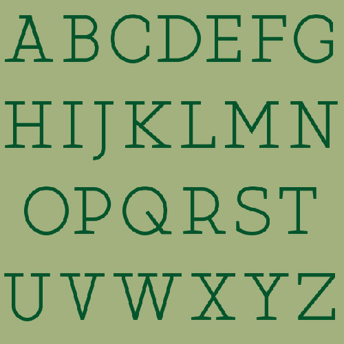 Martell Fonts Letters