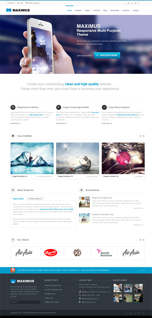 Maximus - Responsive Multi-Purpose Theme