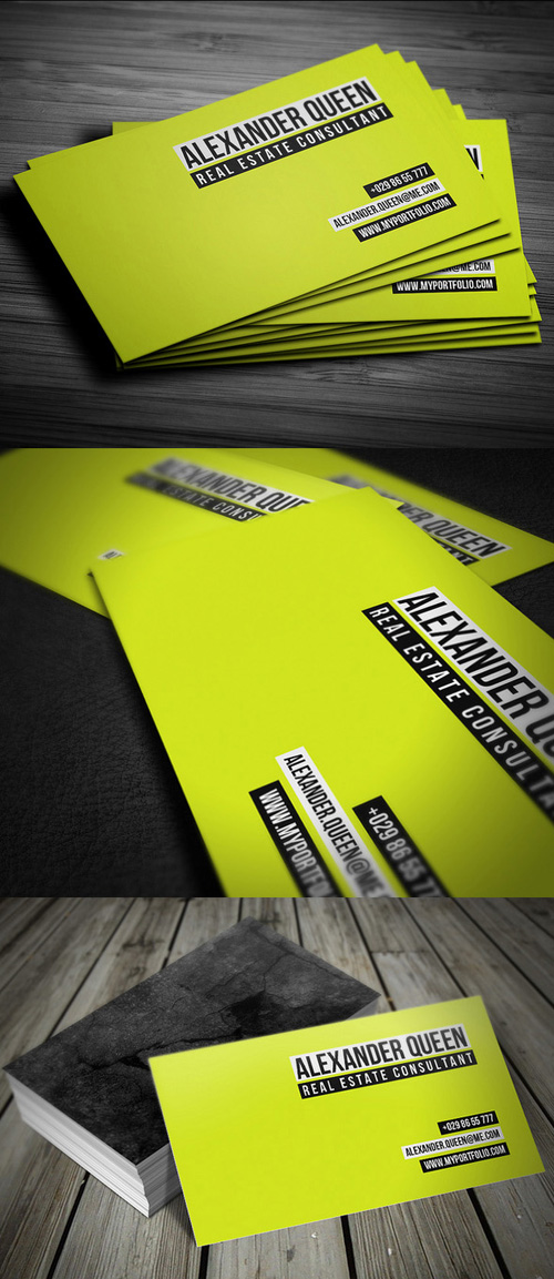 Neon Concrete Business Card