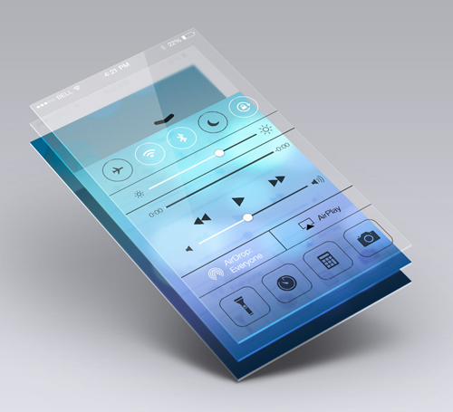 Perspective App Screen Mock-Up Free PSD File