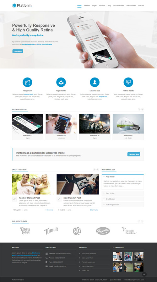Platforma – Responsive Multi-Purpose Theme
