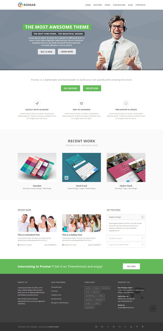 Promar – Responsive Multi Purpose WordPress Theme