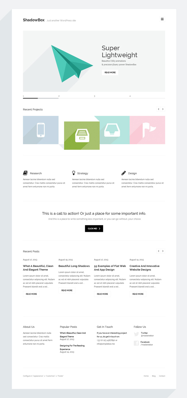ShadowBox WP – Super Minimal WordPress Theme