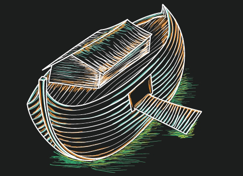 Sketching a Boat with Graphics Tablet in Adobe Illustrator