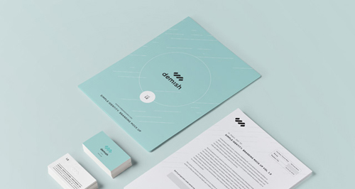 Stationery Branding Mock Up Free PSD File