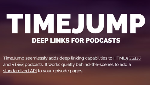 TimeJump – Deep linking for Podcasts