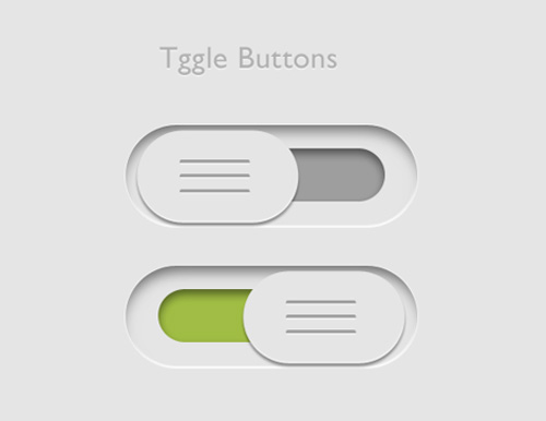 Toggle Buttons Free PSD File