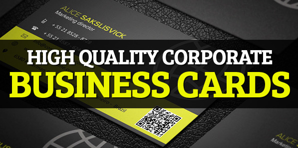 20 High Quality Corporate Business Cards