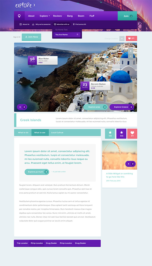 Website Templates Free PSD File