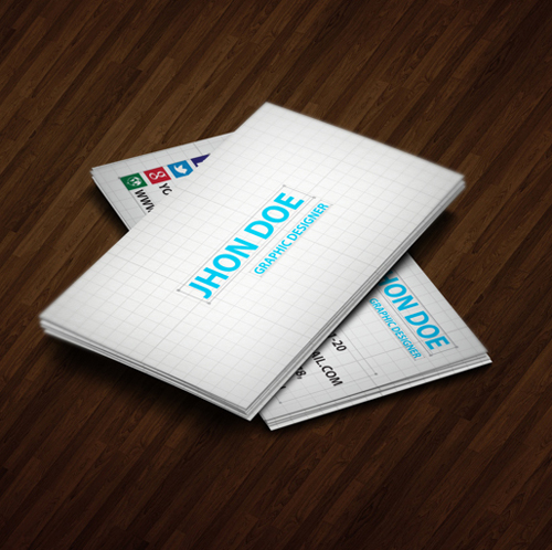 Vector Workshop Style Business Card