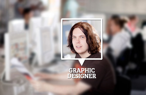 Graphic Designer at office