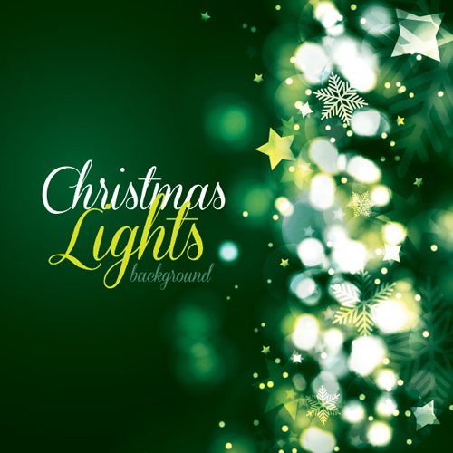 Christmas Lights Background Vector Graphic